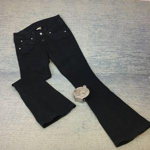 True Religion black bootleg jeans